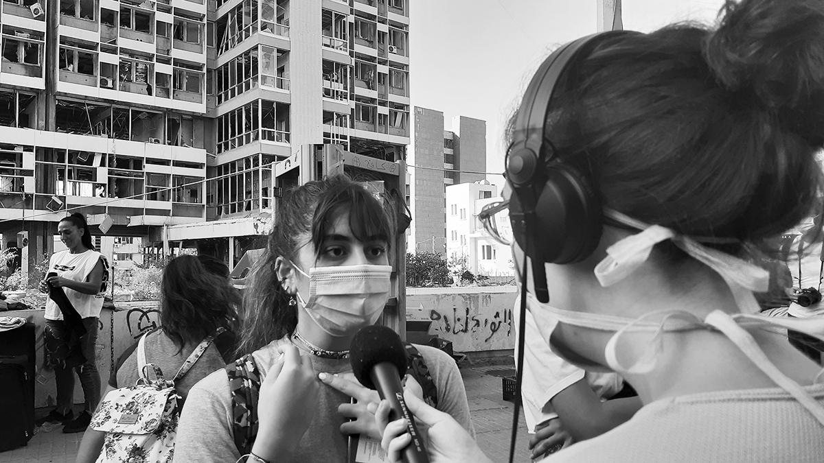 Berichterstattung in Beirut